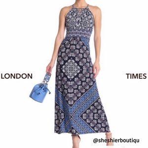 💜London Times Halter Maxi Dress - Sz 16💜